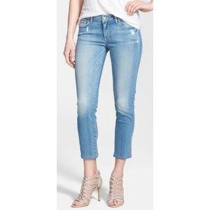 Paige Light Wash Kylie Crop Jeans